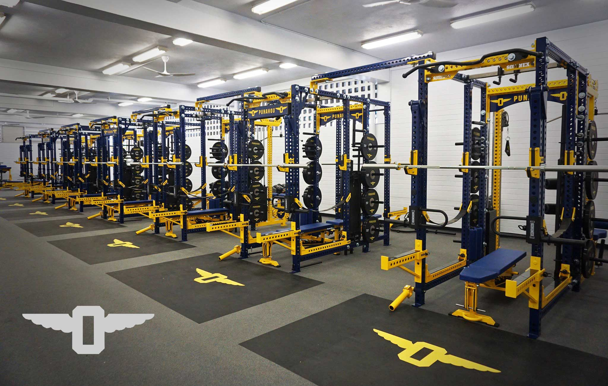 Punhou School Sorinex strength and conditioning facility
