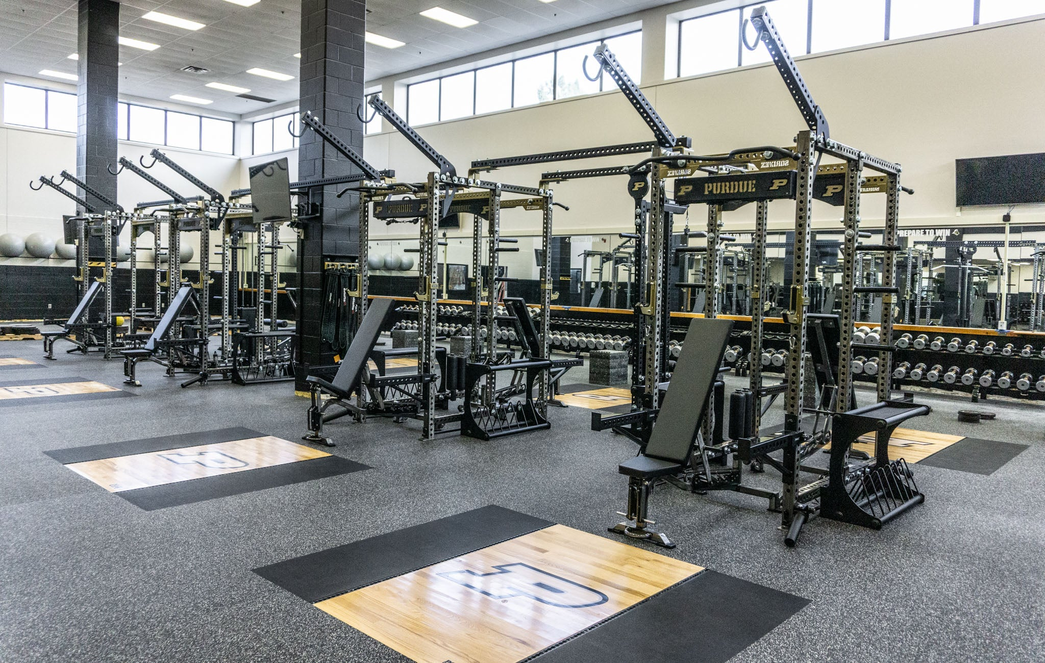 Purdue University Olympic Weight Room