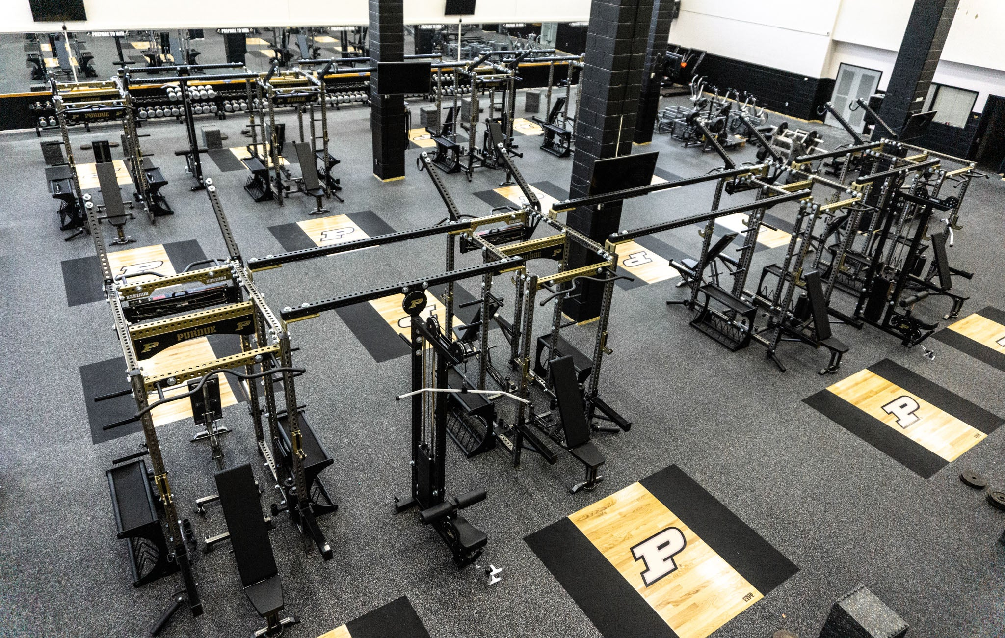 Purdue University Custom Olympic Weight Room