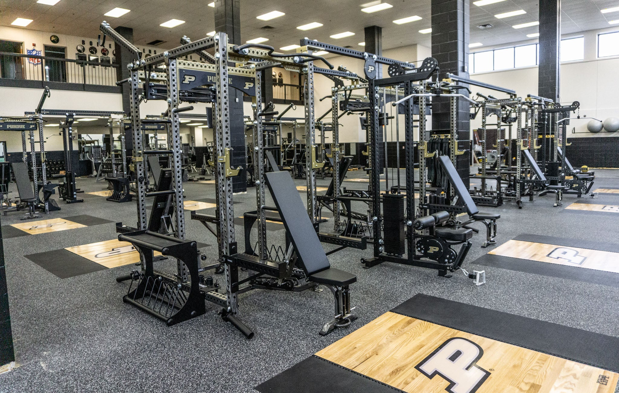 Purdue University Olympic strength training facility