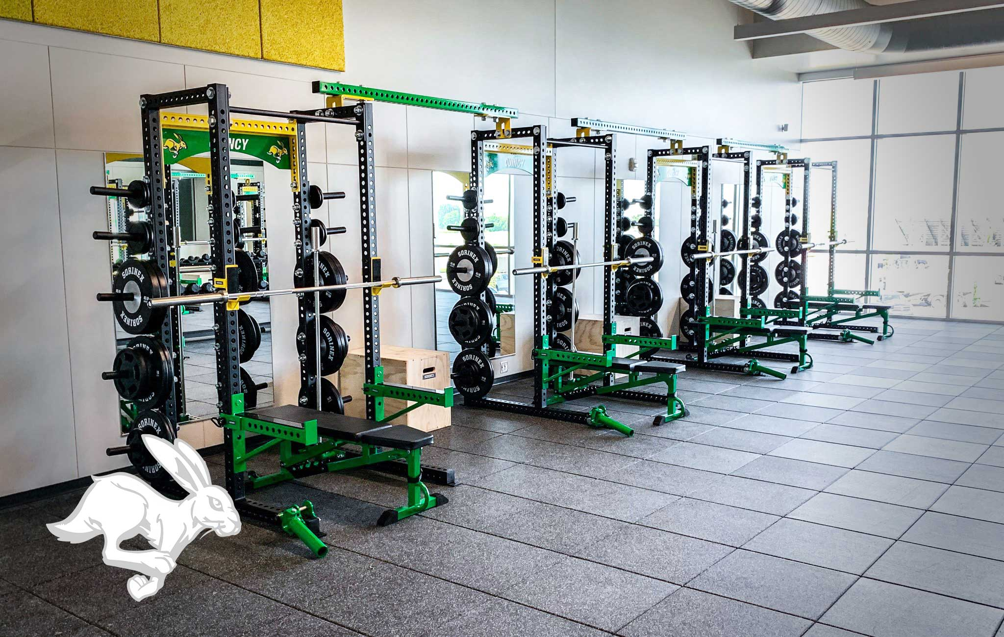 Quincy High School Sorinex strength and conditioning facility