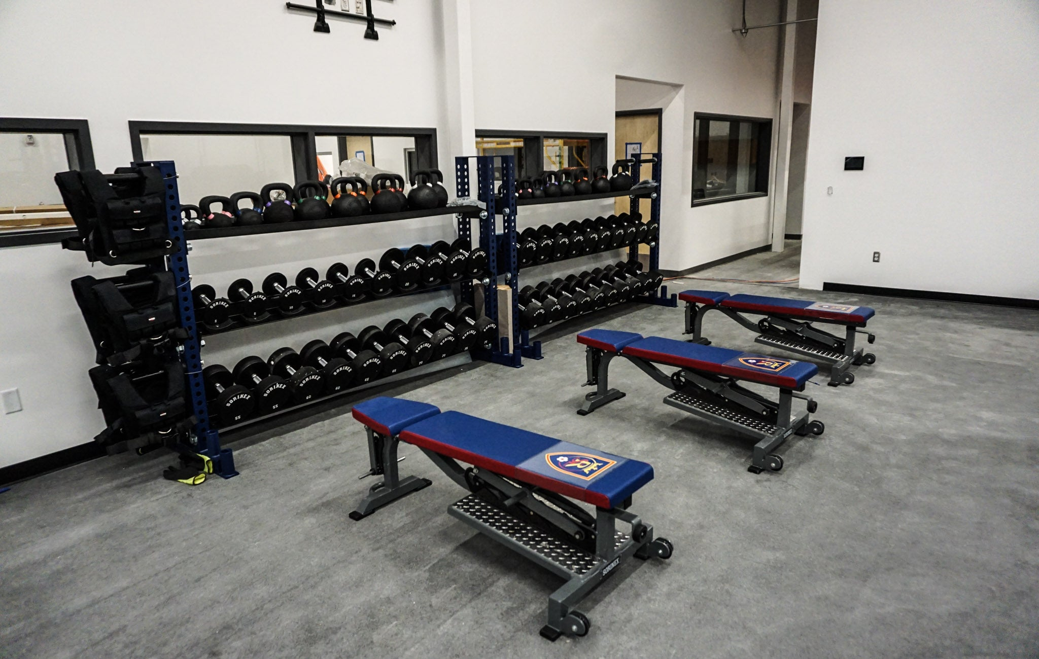 Professional soccer strength training facilities
