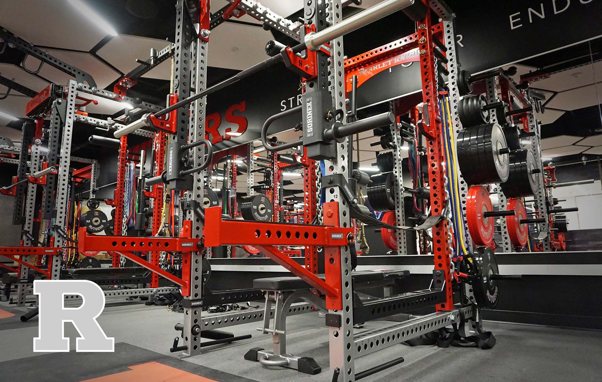 Rutgers University Sorinex strength and conditioning facility