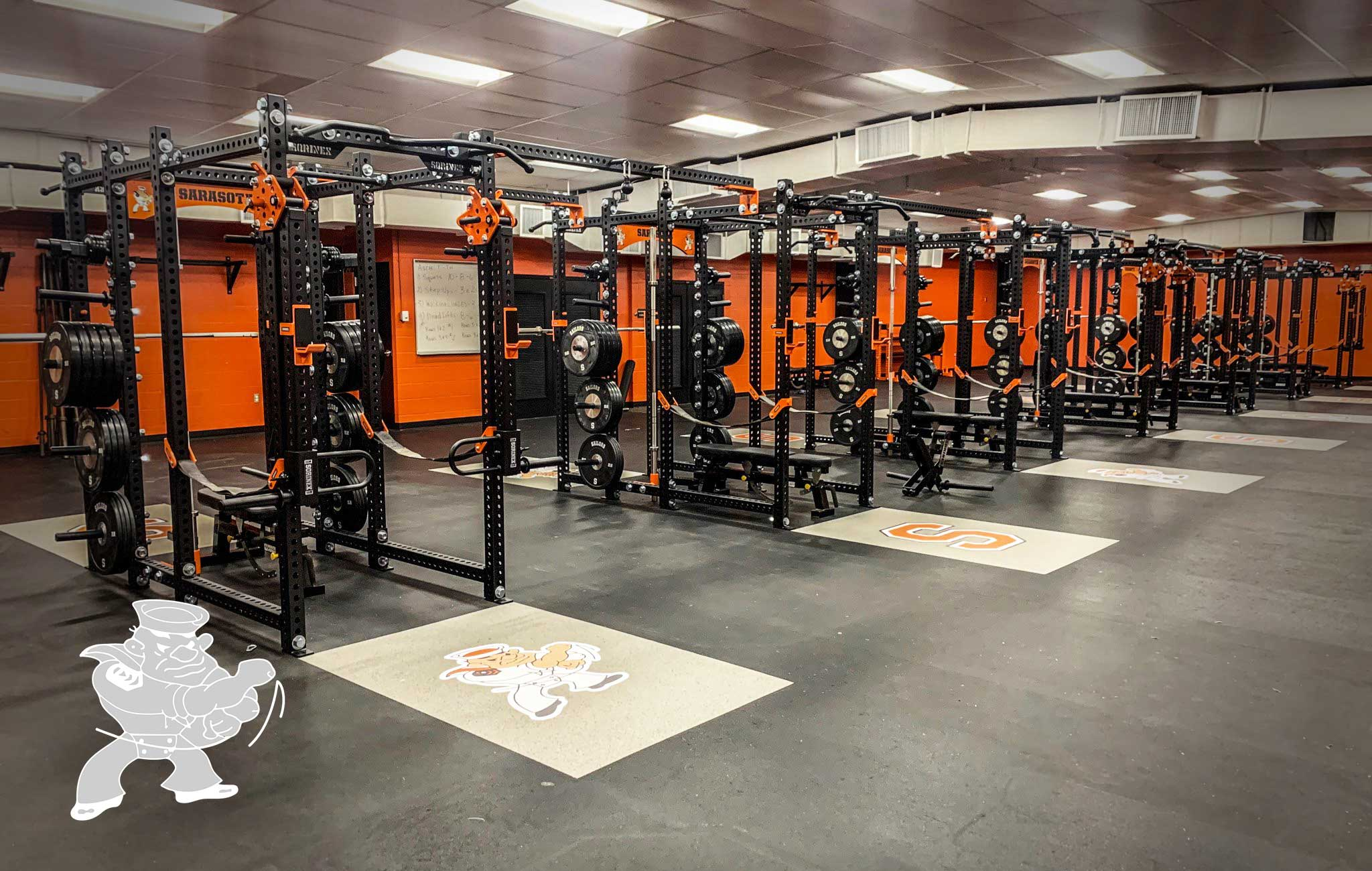 Sarasota High School Sorinex strength and conditioning facility
