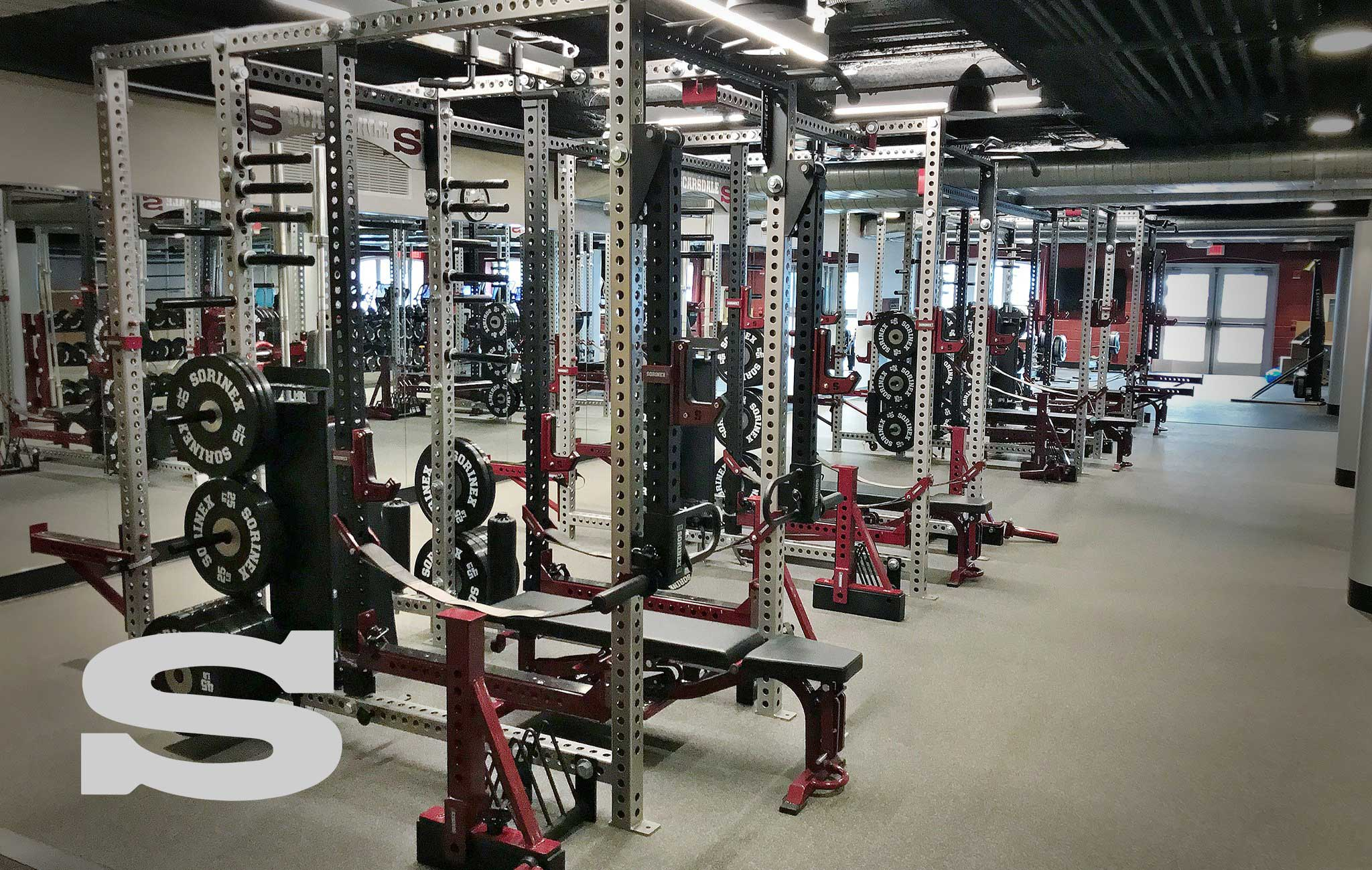 Scarsdale High School Sorinex strength and conditioning facility