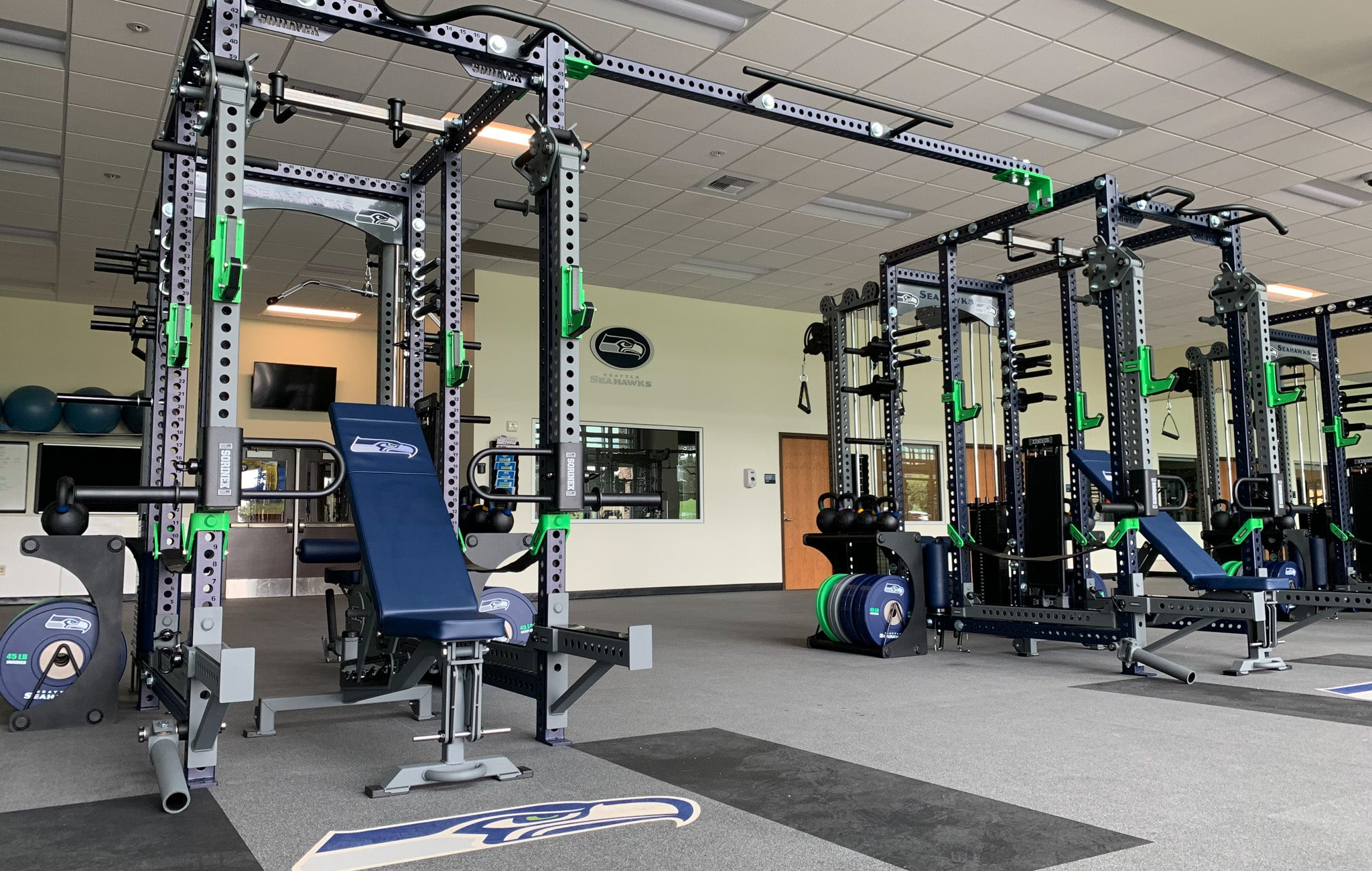 Seahawks power racks