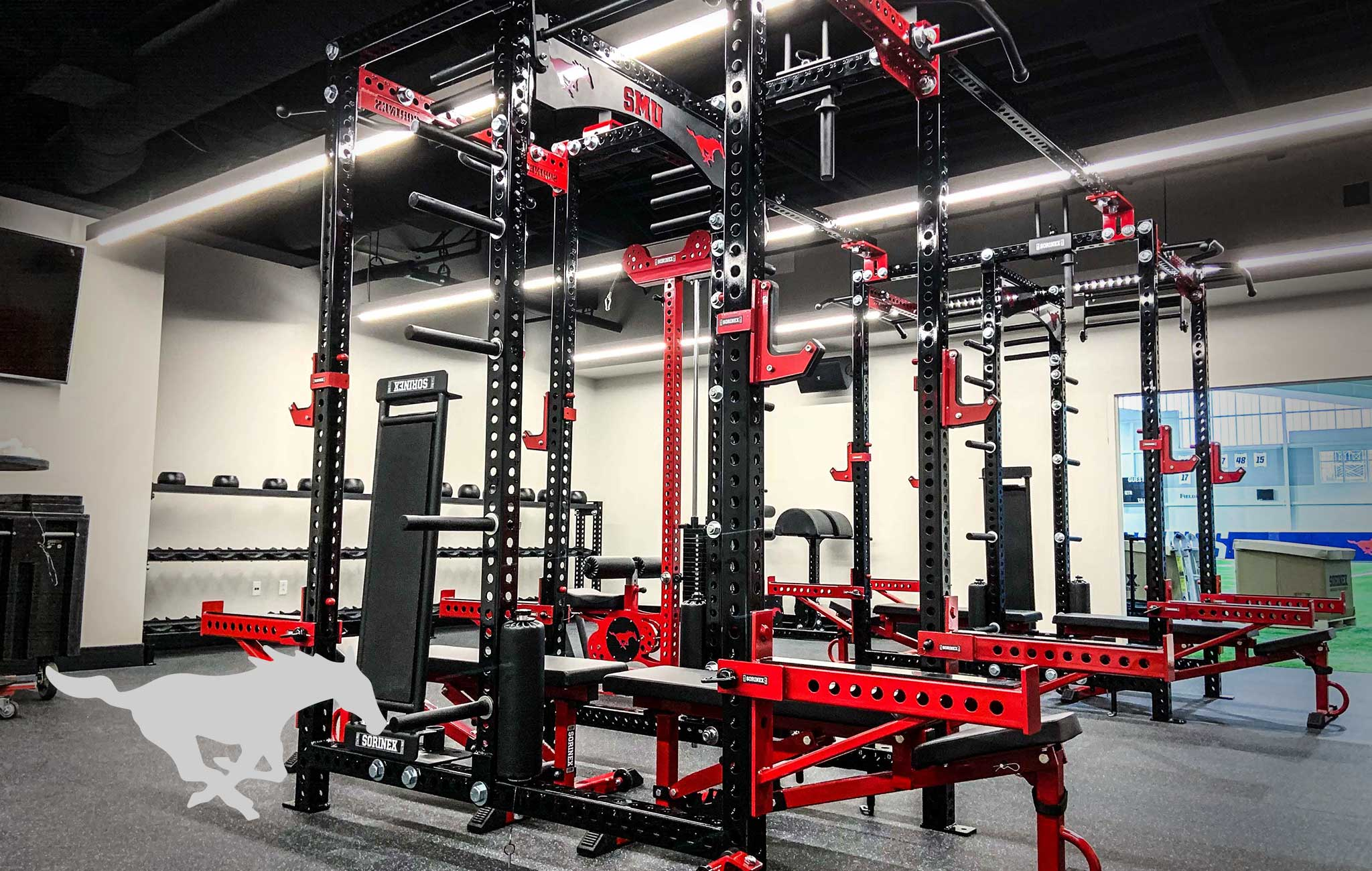 SMU Sorinex strength and conditioning facility