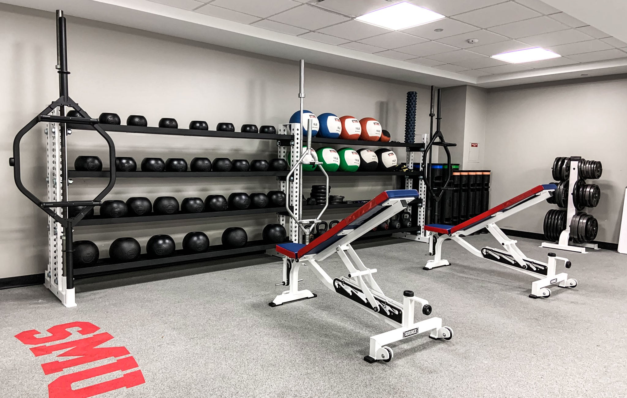 Southern Methodist University custom weight rooms