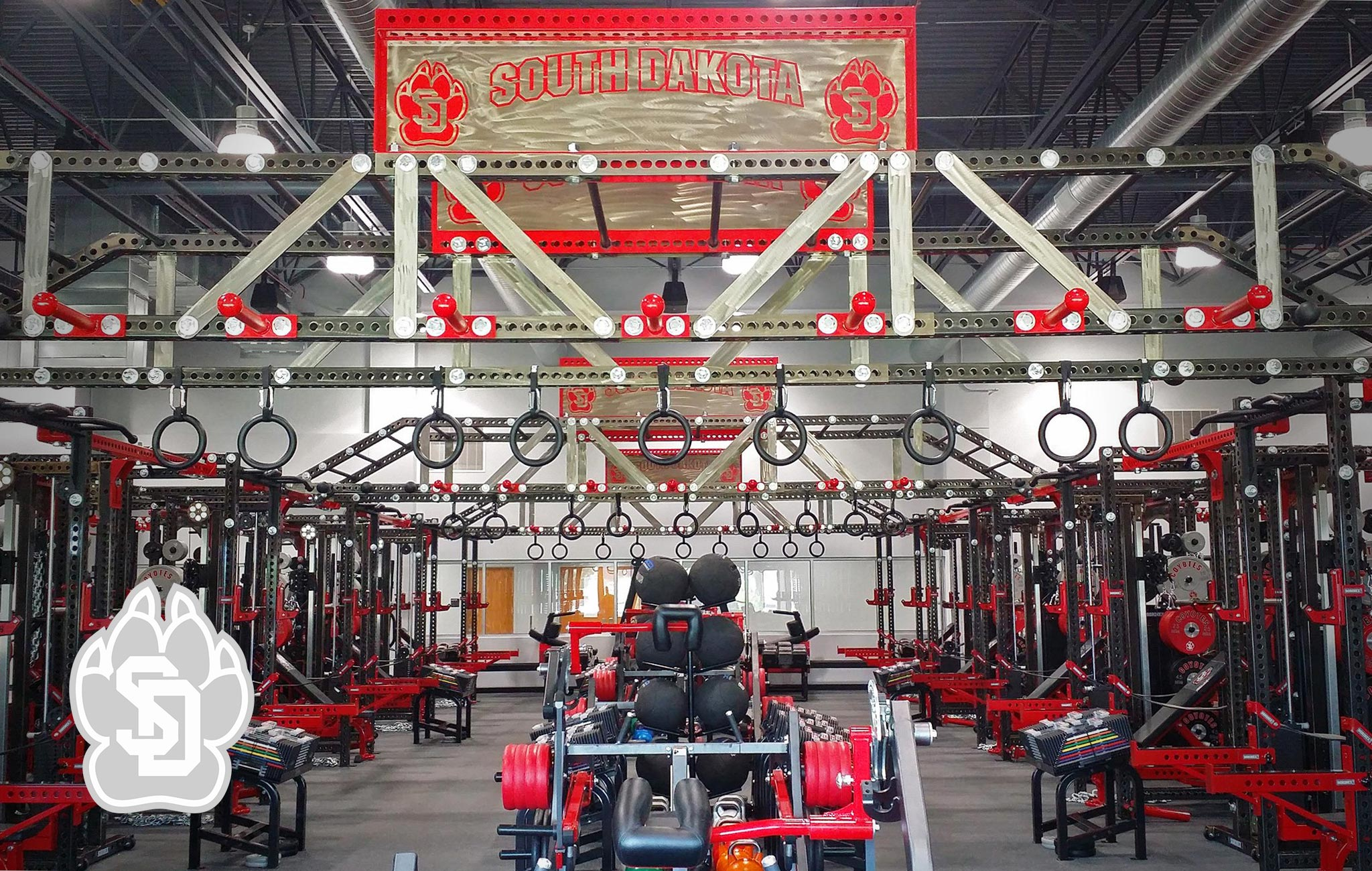 University of South Dakota Sorinex strength and conditioning facility
