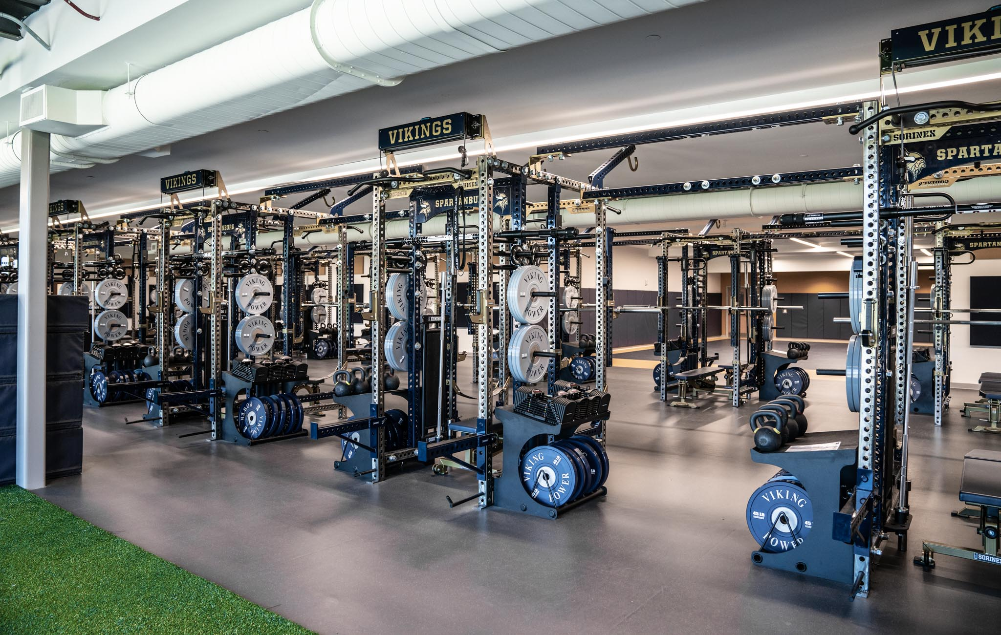 Spartanburg High School strength and conditioning facility