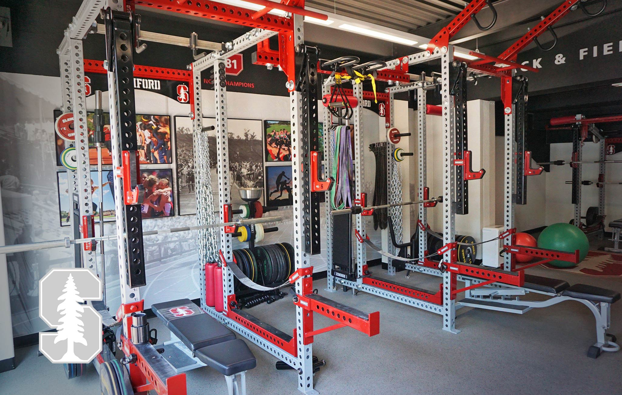 Standford University Sorinex strength and conditioning facility