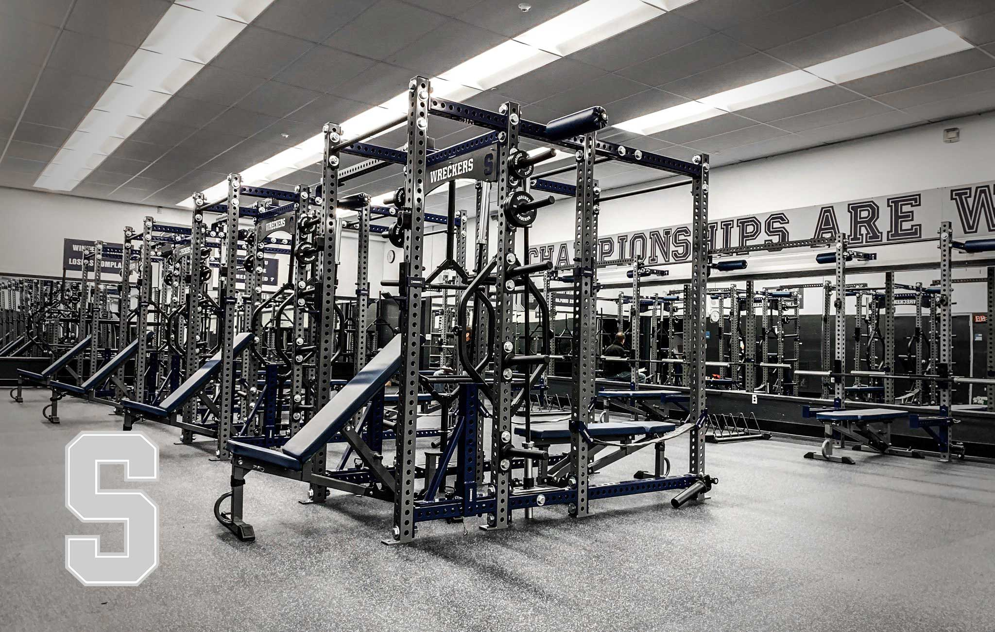 Staples High School Sorinex strength and conditioning facility