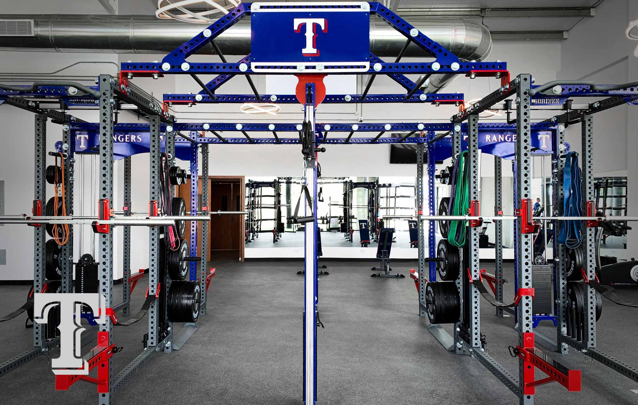 Texas Rangers Sorinex strength and conditioning facility