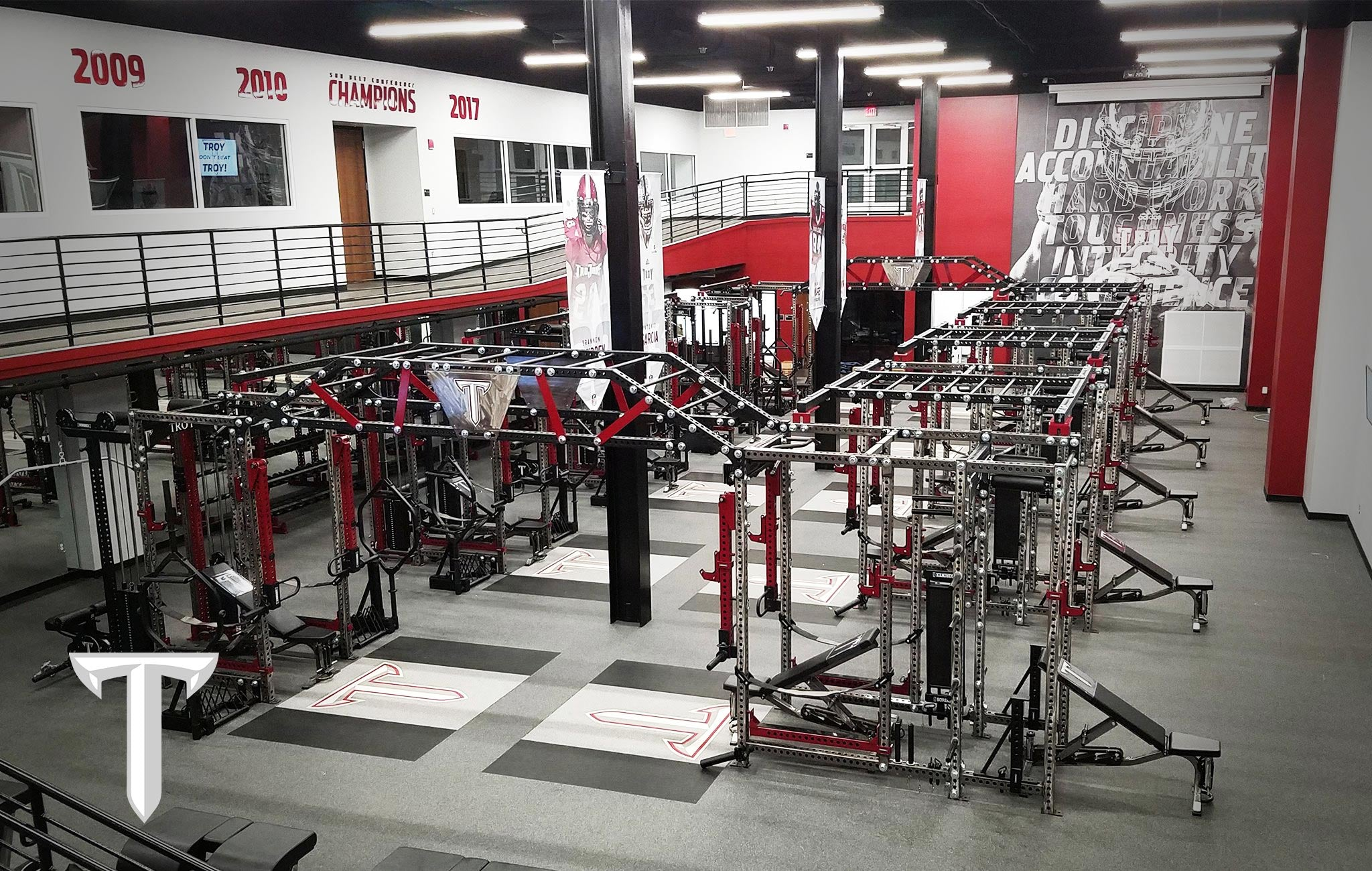 Troy University Sorinex strength and conditioning facility