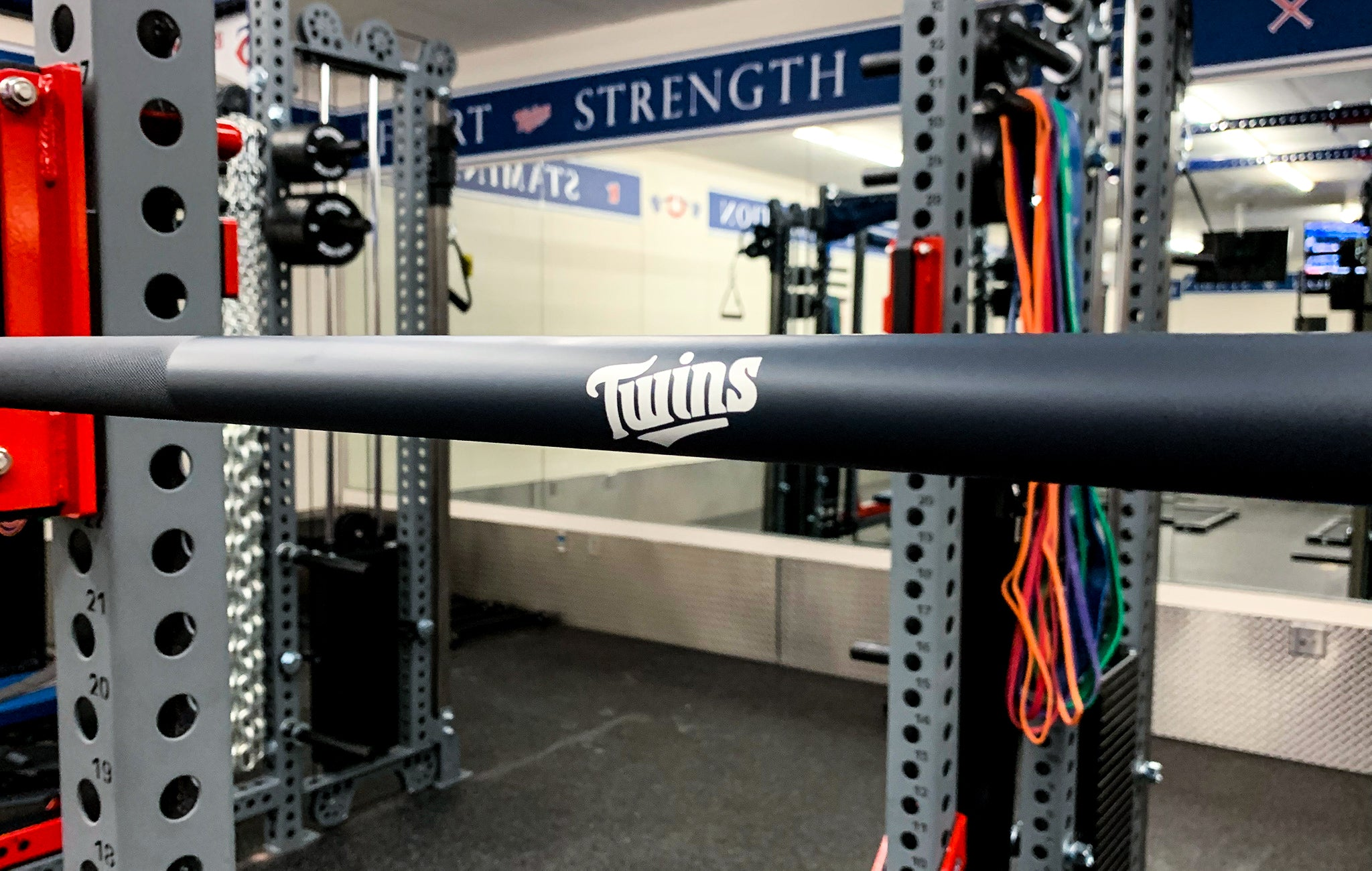 minnesota twins custom weight room