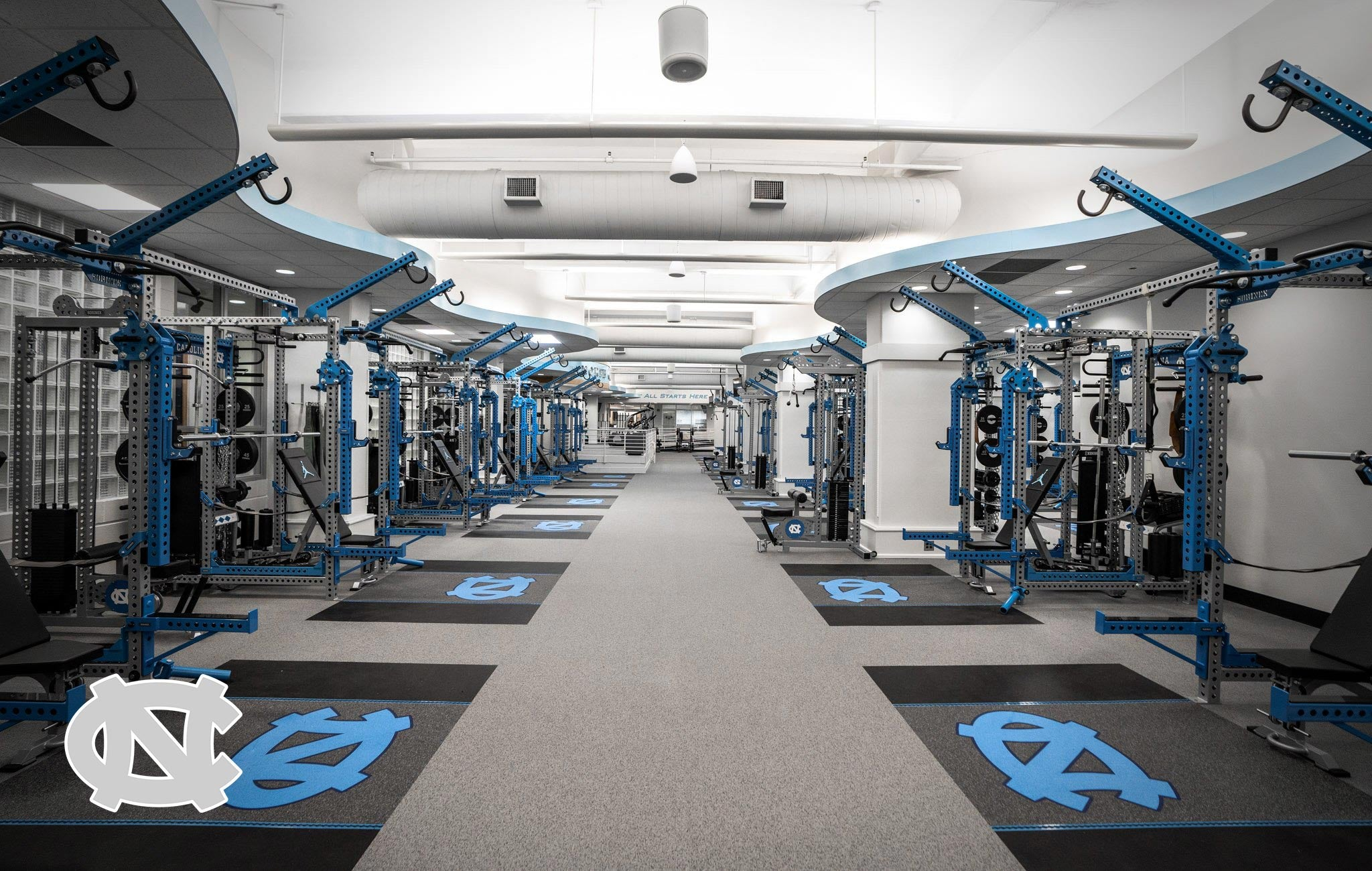 UNC Sorinex strength and conditioning facility