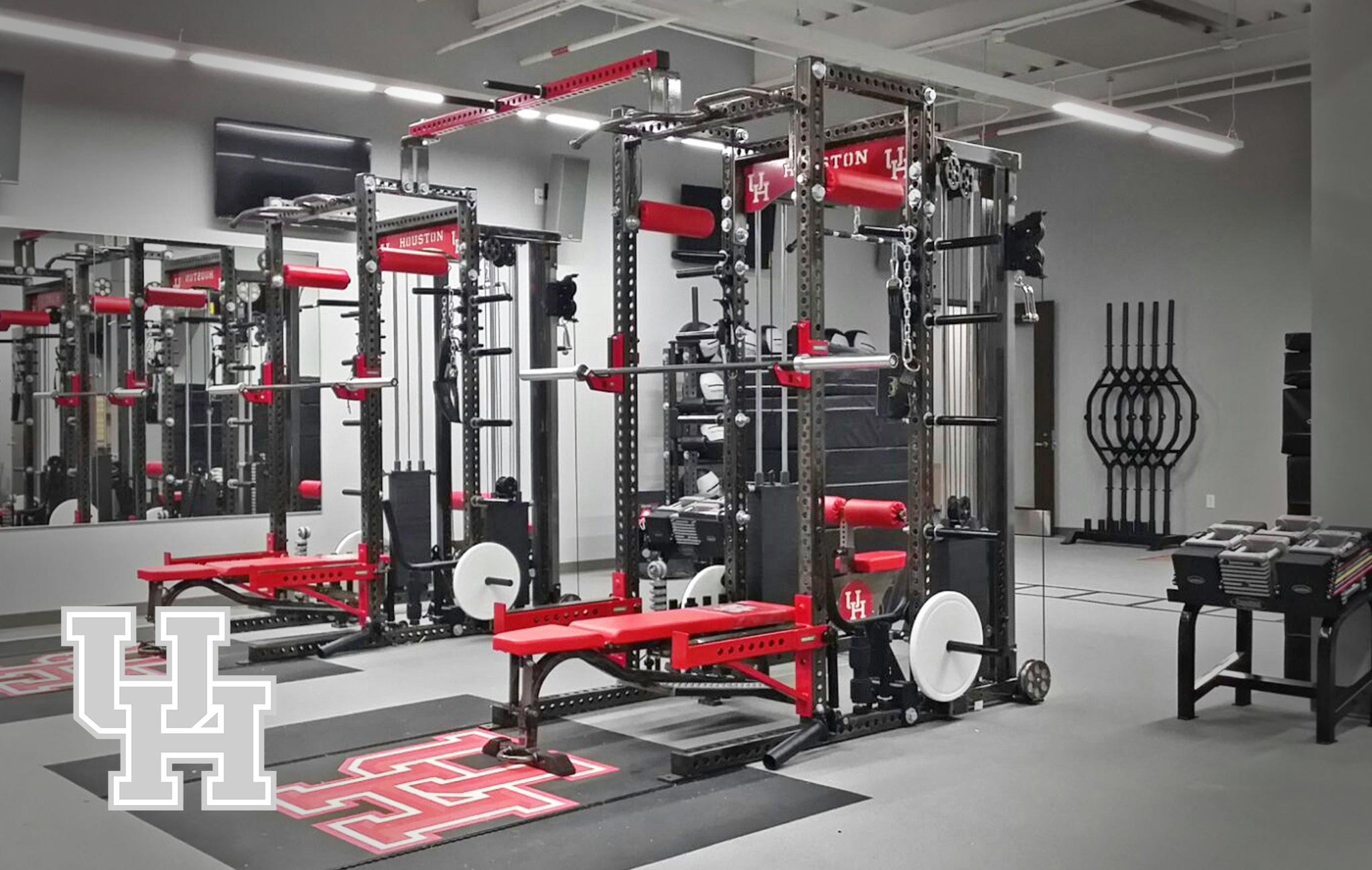 University of Houston Sorinex strength and conditioning facility