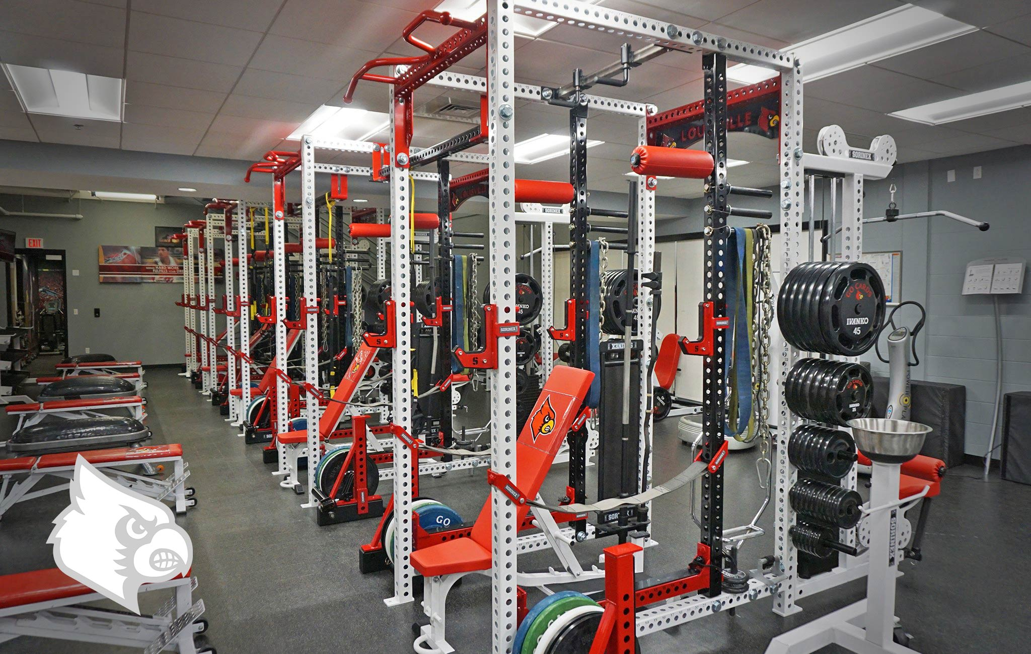 University of Louisville Sorinex strength and conditioning facility