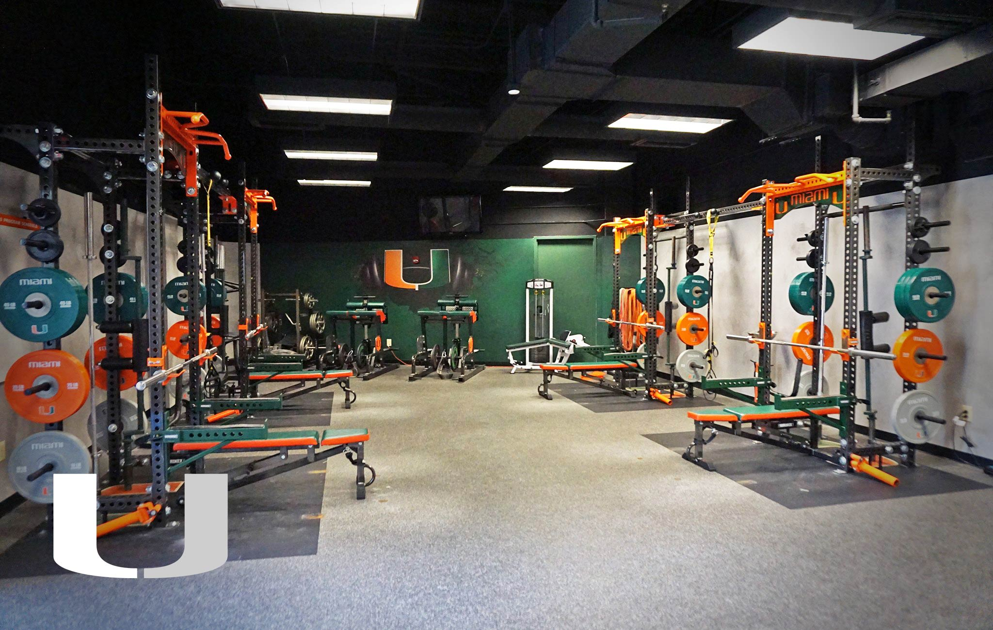University of Miami Sorinex strength and conditioning facility