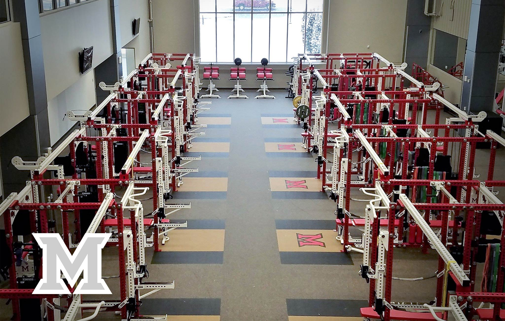 Miami University Sorinex strength and conditioning facility