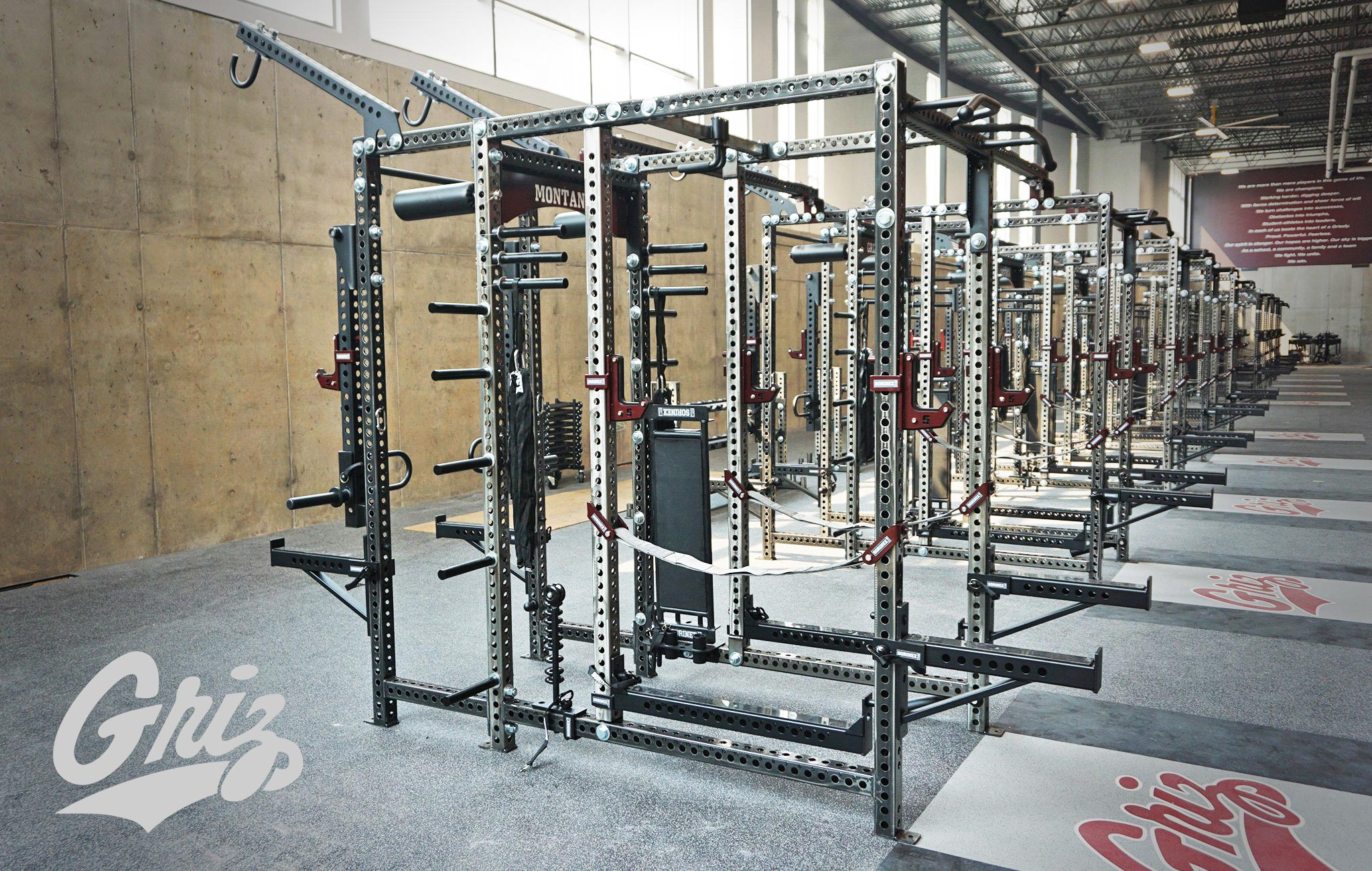 University of Montana Sorinex strength and conditioning facility