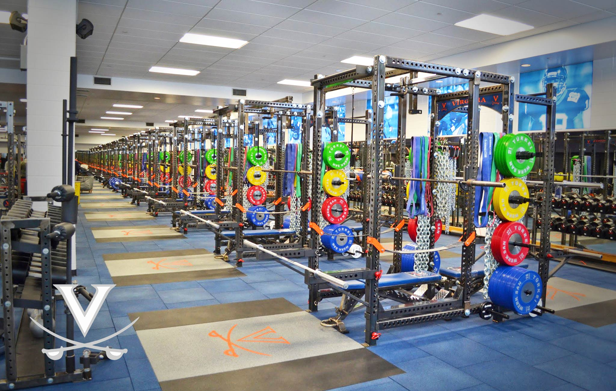University of Virginia Sorinex strength and conditioning facility