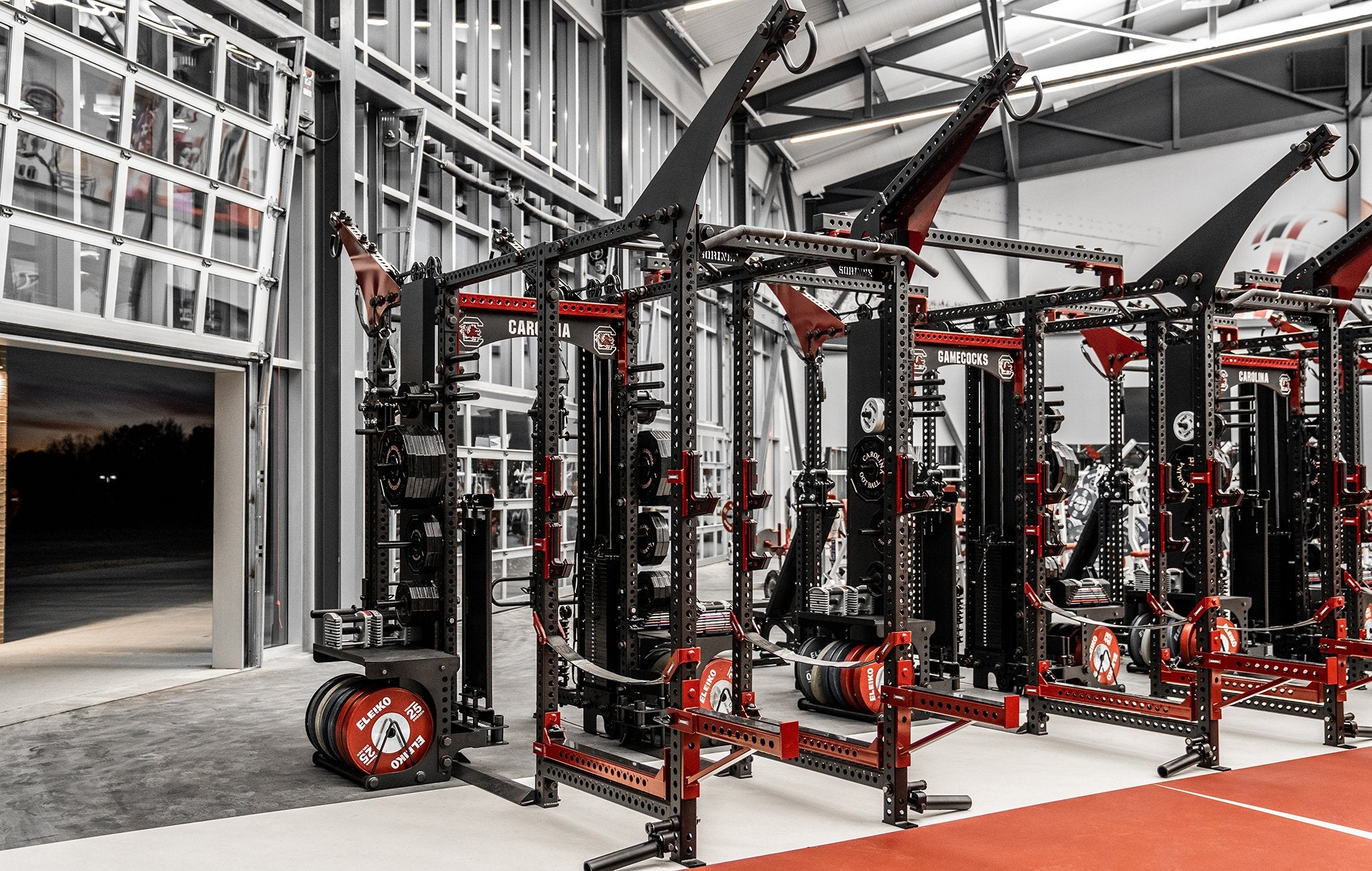 USC Gamecocks football weight room