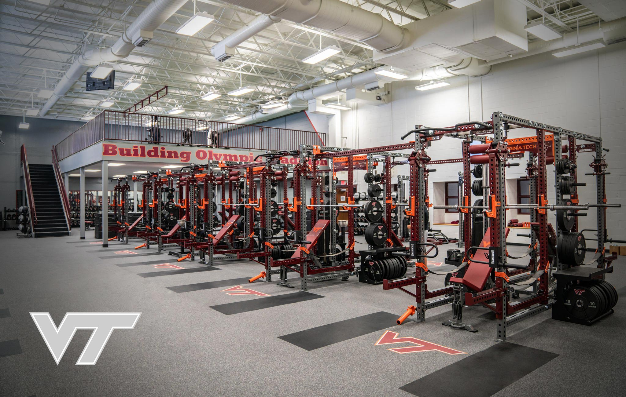 Virginia Tech Sorinex strength and conditioning facility