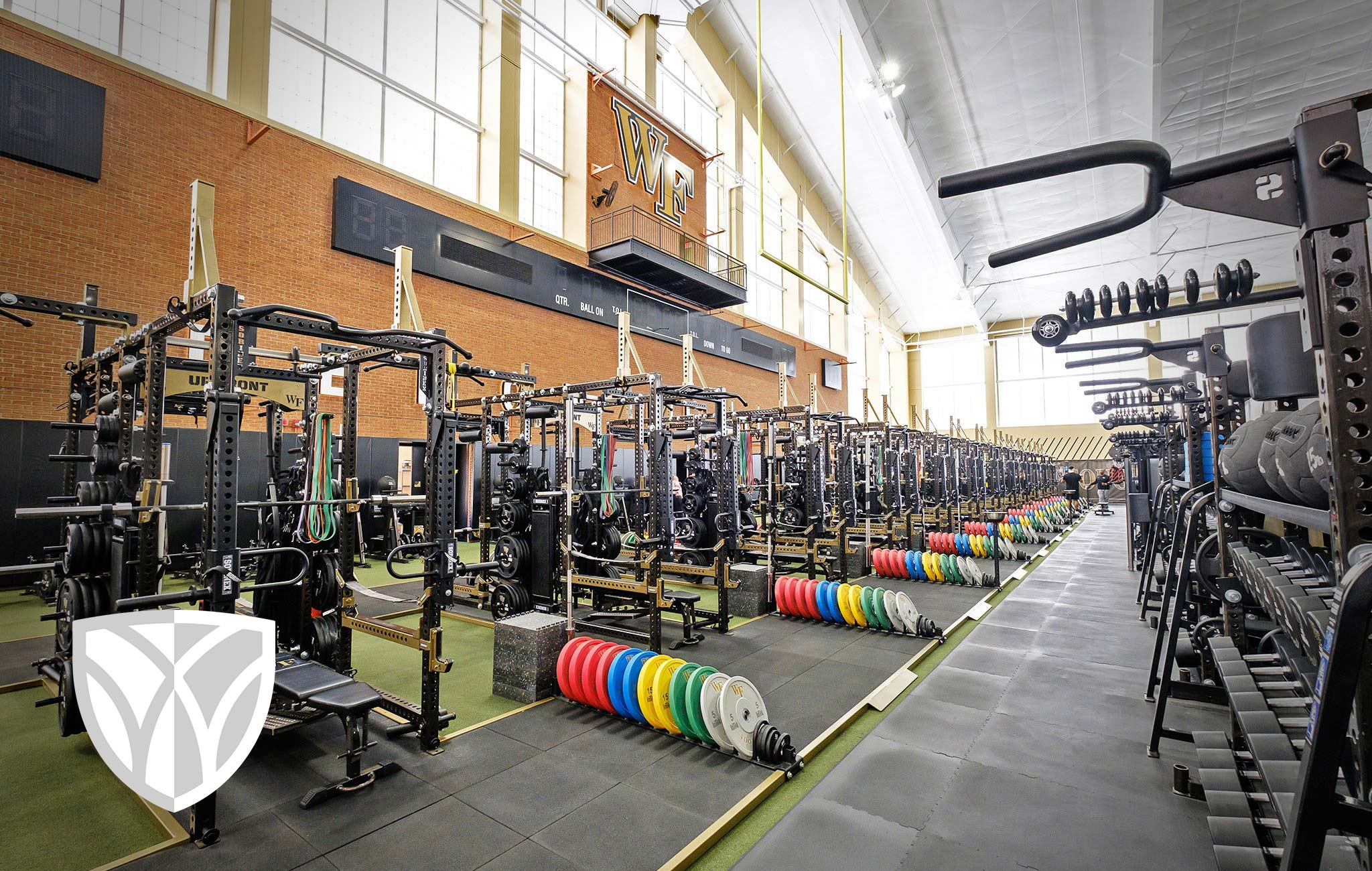 Wake Forest University Sorinex strength and conditioning facility