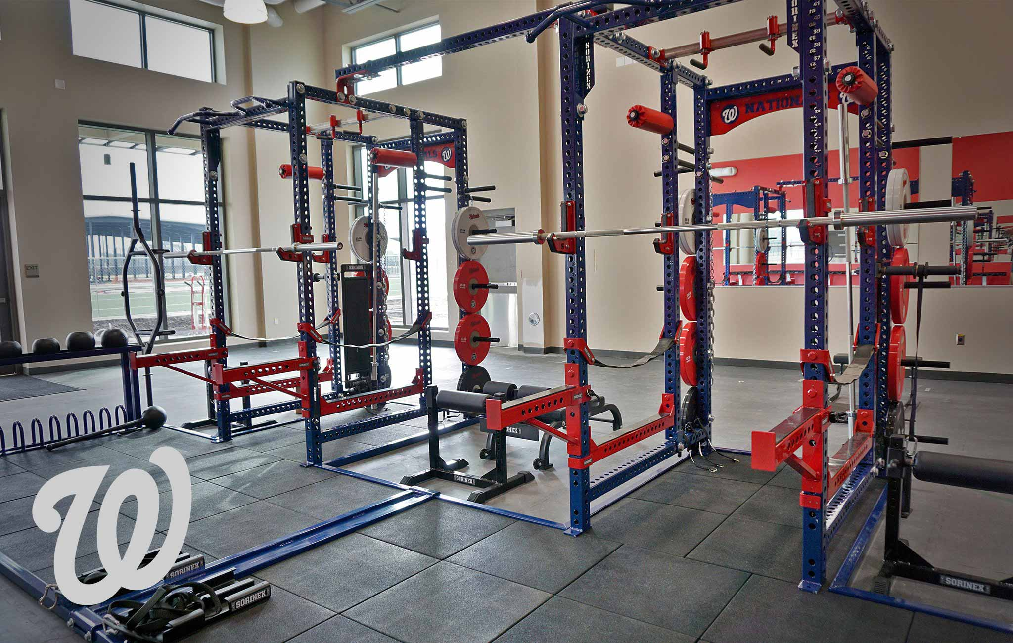 Washington Nationals Sorinex strength and conditioning facility