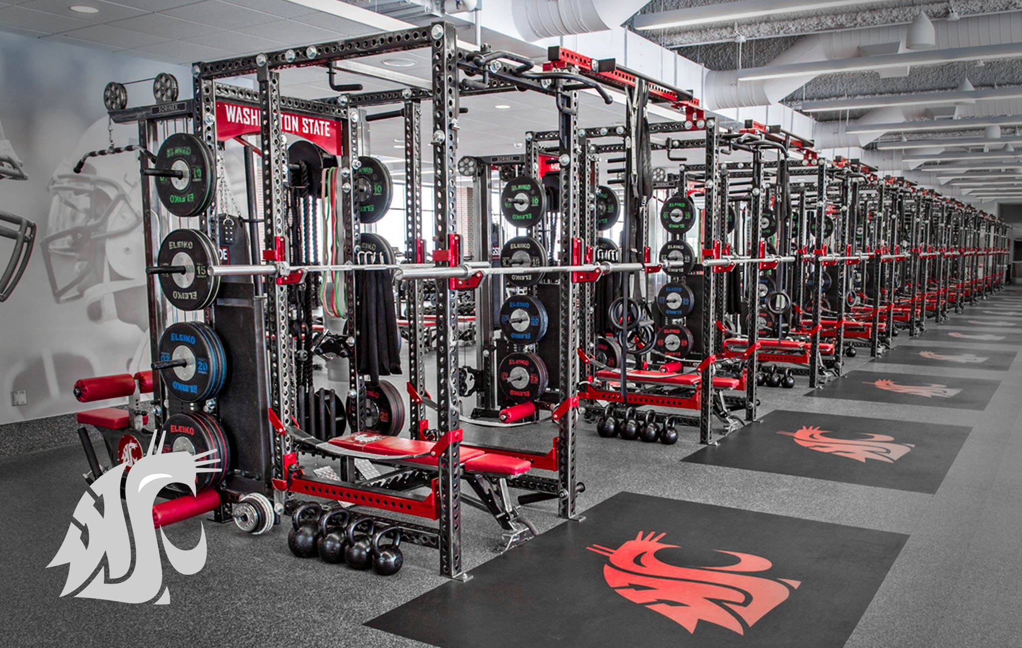 Washington State University Sorinex strength and conditioning facility