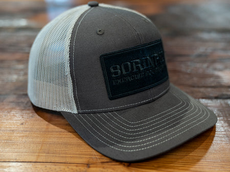 Brown / Black Patch Snapback Trucker Hat
