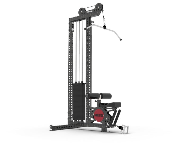 lat pull low row machine
