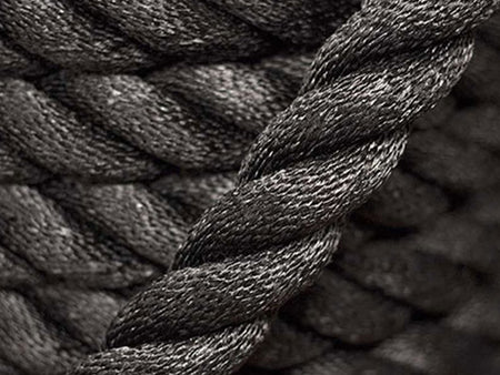 "1.5"" Black Dacron Conditioning rope"