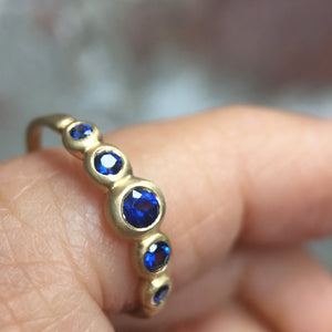 Kima Ring 5 Stone with blue sapphires