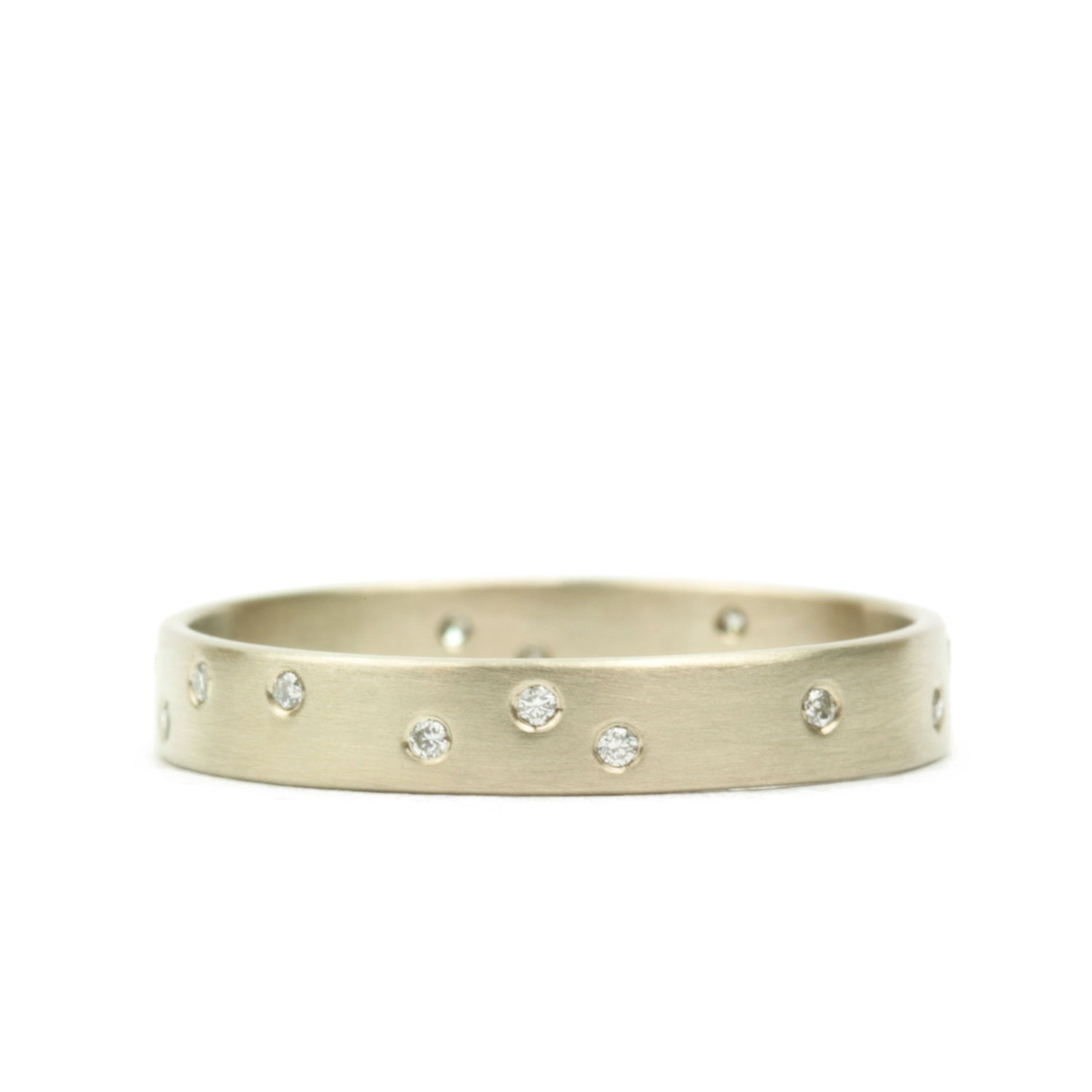 Starry Night Band with diamonds 3 mm