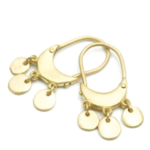 Zoe Hoops with Dangle Discs