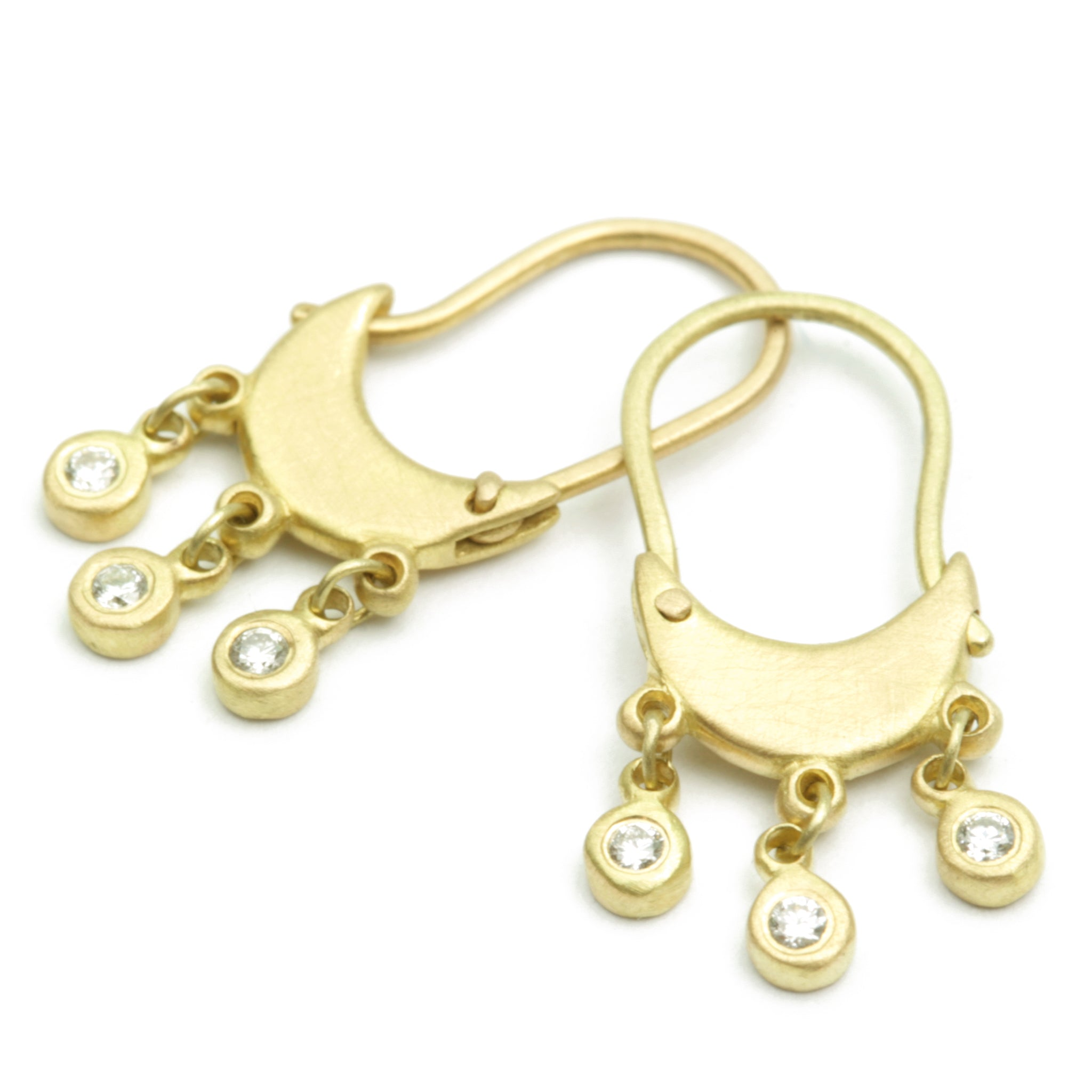 Zoe Hoops with Dangle Diamonds
