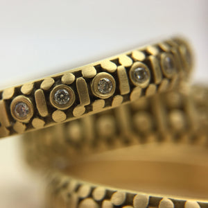 Fancy Costa Band with diamonds 3.75 mm