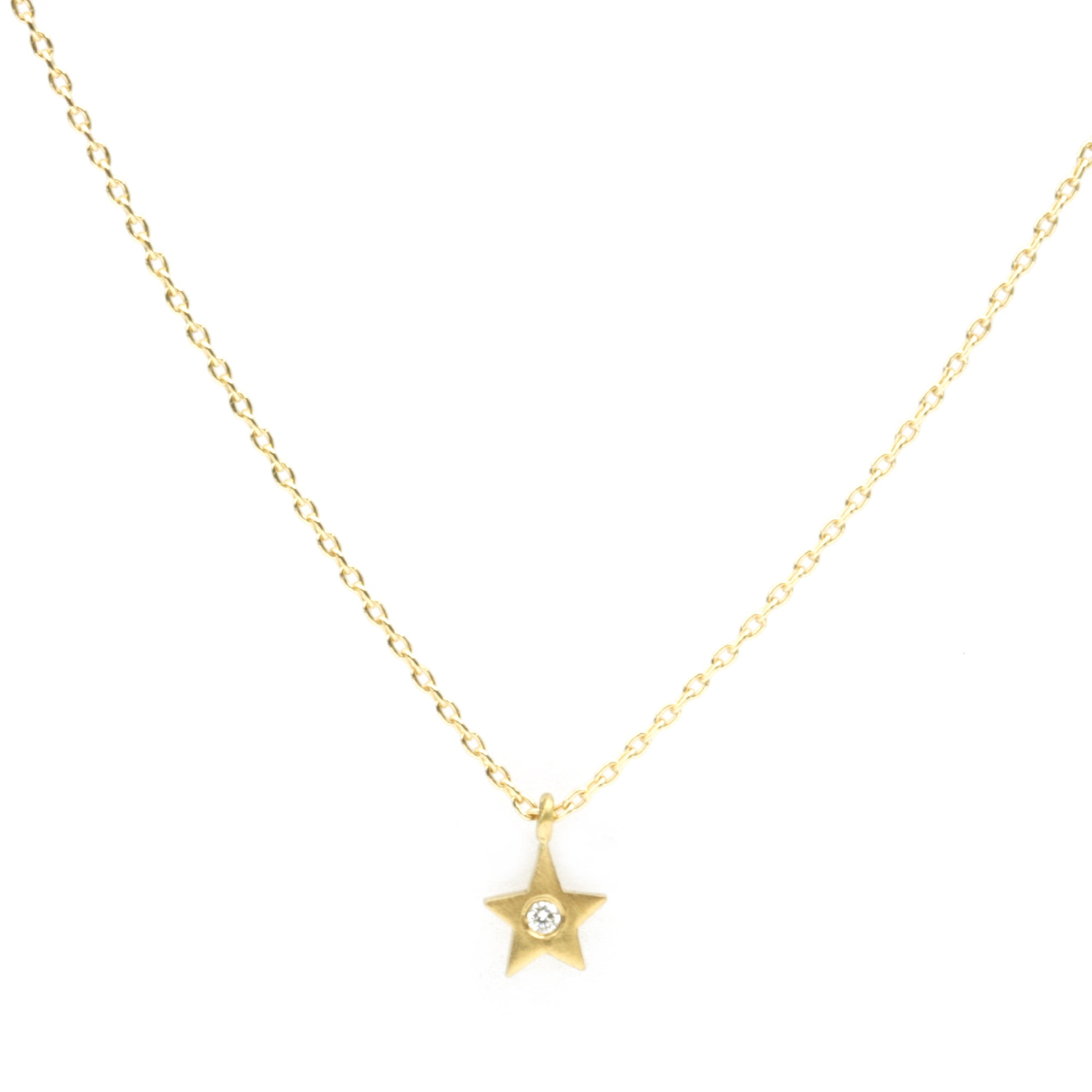 Micro Star with diamond