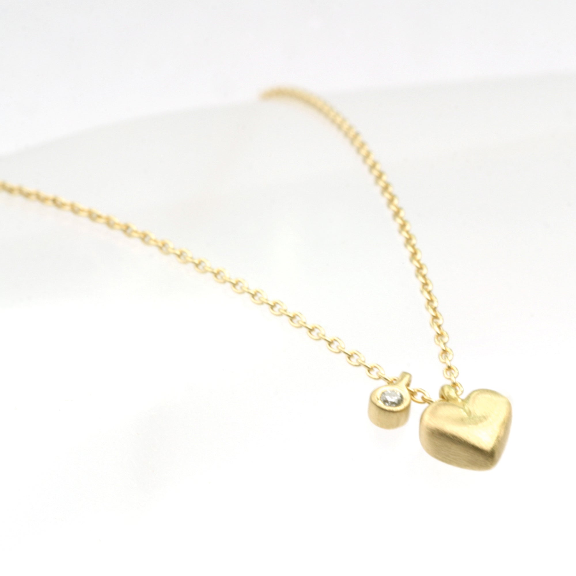Micro Heart with diamond tag