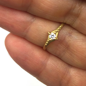 Ariel Ring with 10 point diamond