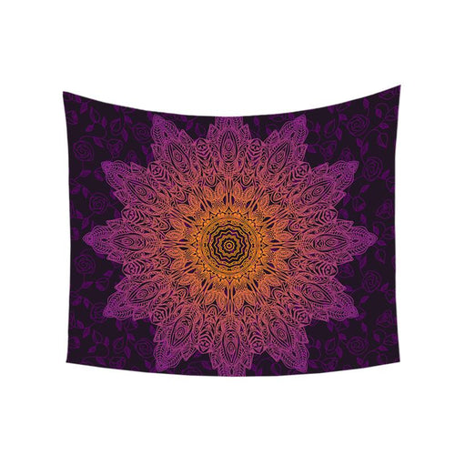 Mandala Wall Tapestry - Graduated Purple