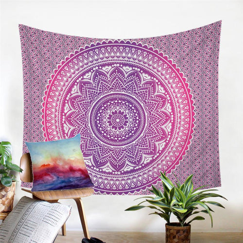Mandala Wall Tapestry - Bohemian Purple