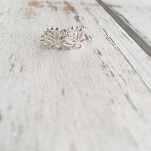 Sterling Silver Lotus Studs