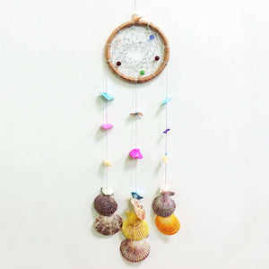 Unique Dream Catcher with Colourful Shells