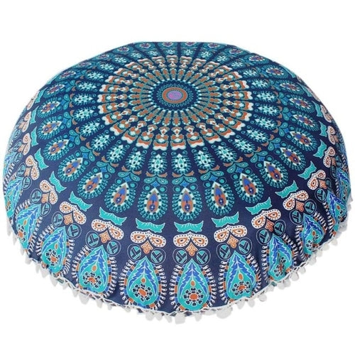 Mandala Floor / Throw Cushion Cover - Blue Tranquility