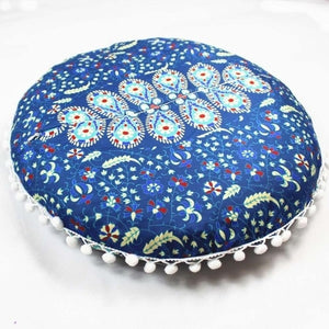 Round Floor / Throw Cushion Cover - Kingdom of Flora