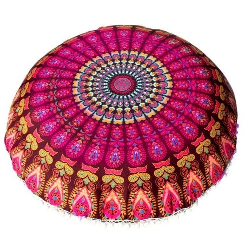 Mandala Floor / Throw Cushion Cover - Bohemian Pink