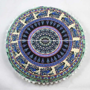 Mandala Floor / Throw Cushion Cover - Kingdom of Nature